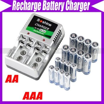 8 AA AAA NiMH Rechargeable Recharge Battery +CHARGER #29