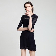 Buy ZI ZHU NIAO women's 5 minutes sleeve Party Wear Work Fitted hollow elegant patchwork Slim Pencil Bodycon Dress for $75.00 in AliExpress store
