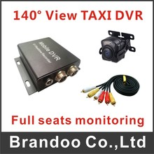 Auto recording car dvr kit, 140 degree camera for monitoring all seats