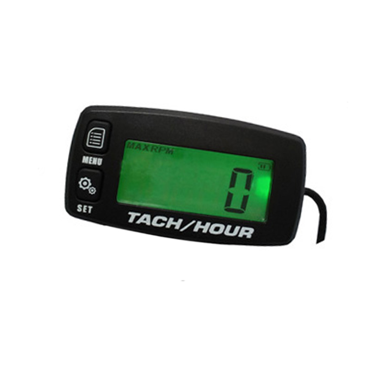 Free Shipping!Digital Resettable Inductive Tacho Hour Meter Tachometer For Motorcycle Marine Boat Snowmobile Generator Mower(China (Mainland))