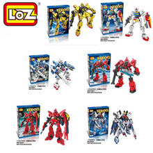 GUNDAM MS-06S-CA Freedom Mechanical Warrior LOZ Bricks Diamond Building Blocks Action Figure Toys Minifigure