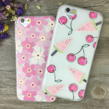 Luxury Flower Relief matte shell TPU Phone Back Cover Case For Iphone 6 6S 4.7″ For Iphone 6Plus 6sPlus 5.5″ Mobile Phone Bag