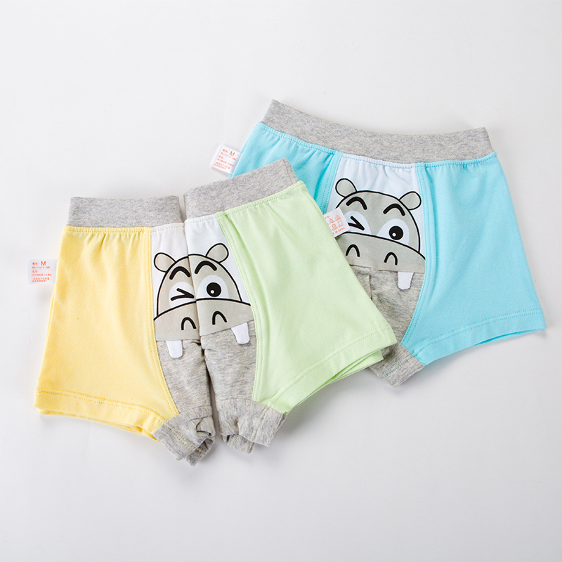 2pcs Boys Underwear Lovely hippo Printed Boys Briefs Children Boxers Kids Panties free shipping(China (Mainland))