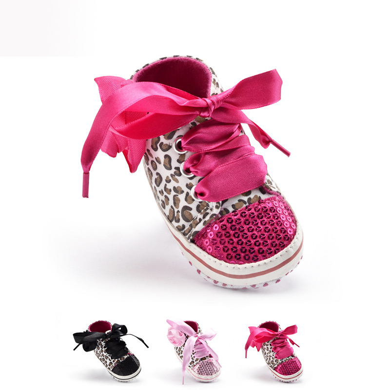 Leopard font b Shoes b font Baby Girl 2016 New Casual Sequined Zapatos Bebe Girl Baby