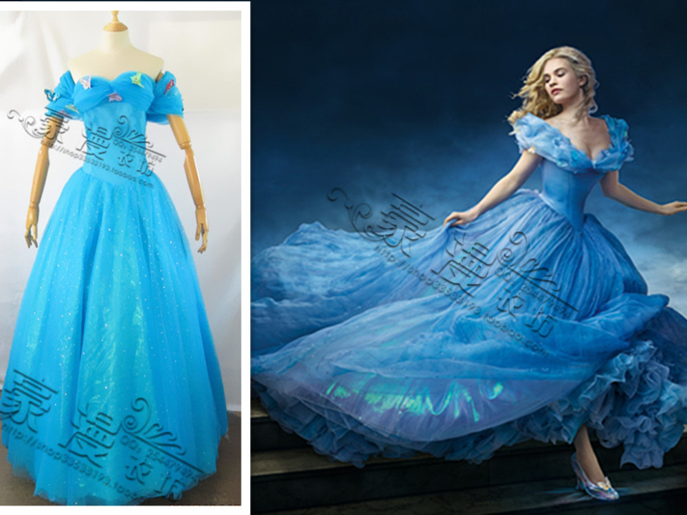 Free shipping New Design Adult Cinderella custome dress for Women Party Dress Cosplay Costume(China (Mainland))