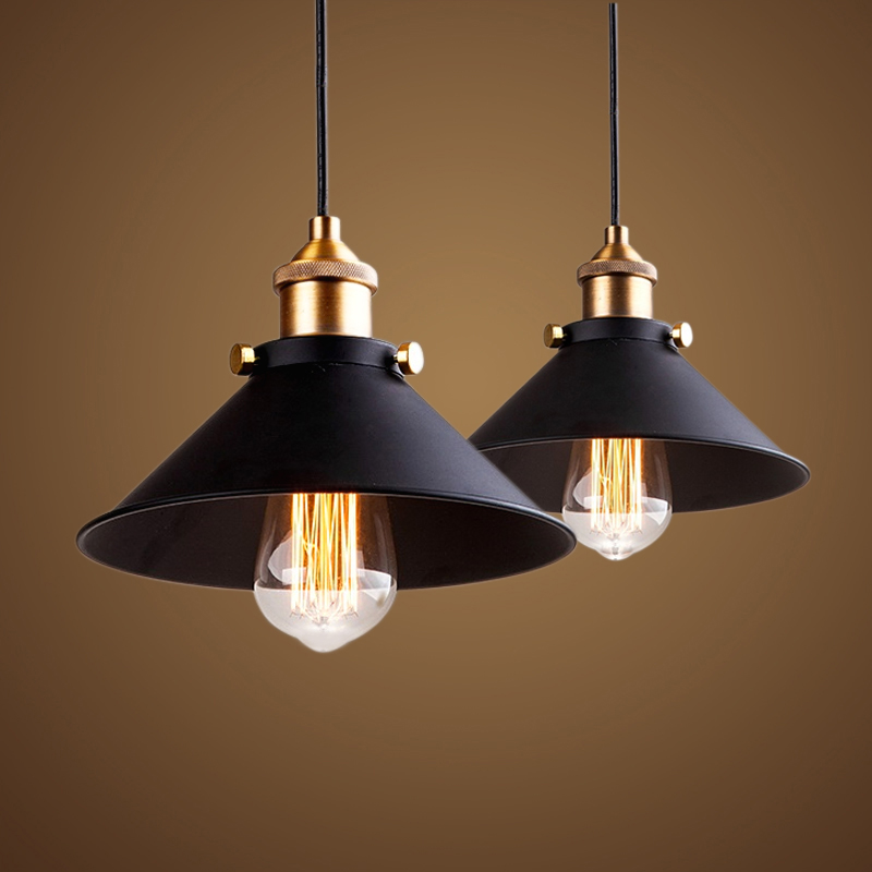 black vintage industrial nordic retro pendant light lampshade loft lights metal cage dining room Countryside E27 edison lamp(China (Mainland))