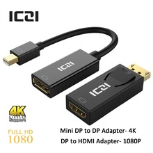 ICZI Thunderbolt Mini DisplayPort Mini DP to DisplayPort DP Adapter 4K + DisplayPort to HDMI Adapter 1080P for Apple Series(China (Mainland))