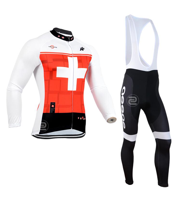 Spring Autumn Long Sleeves Cycling Jersey+Bib Pants / Sports Shorts + Shirt Bicycle Clothing - Beautiful Jersey store