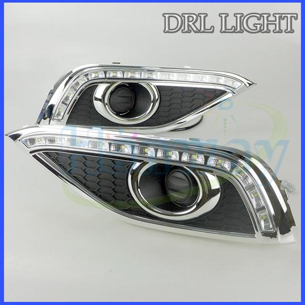 12V 35W For 2012-2013 CRV LED DRL Bulb Car Daytime Running Lights LED Fog Lamp Yellow Turning Light(China (Mainland))