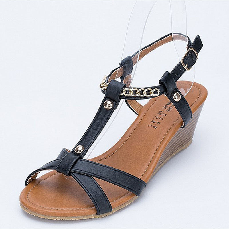 women sandals 2016 European and American fashion ladies sandals with thick bottom slope mouth sandals female summer new aliexpre