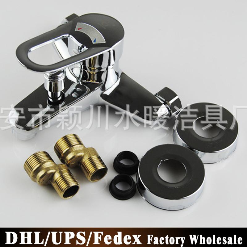Free DHL Fedex 10PCS GD-8082 High Quality All Copper Faucet Triple Bathtub Faucet Bath Faucet Bath Shower Faucet(China (Mainland))