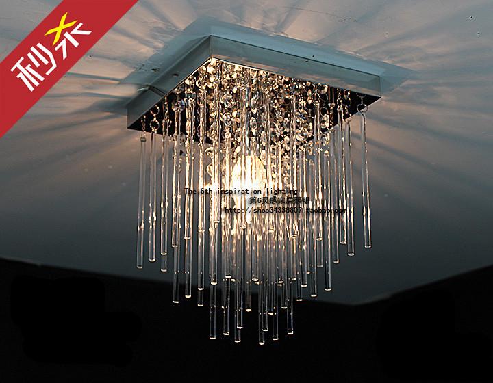 Modern square crystal ceiling lamp LED lamps restaurant corridor high power LED Ceiling Lights led lustre light(China (Mainland))