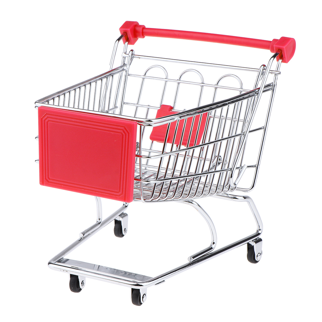 Multi Colors Children Handcart Simulation Mini Supermarket Shopping Cart Utility Cart Kids Pretend Play Toys Gifts