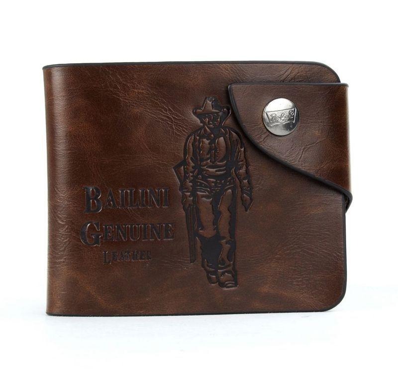 2015 Luxury Fashion Men s Genuine PU Leather Wallet Cowboy Hasp Money Clips Purse Wallet Man