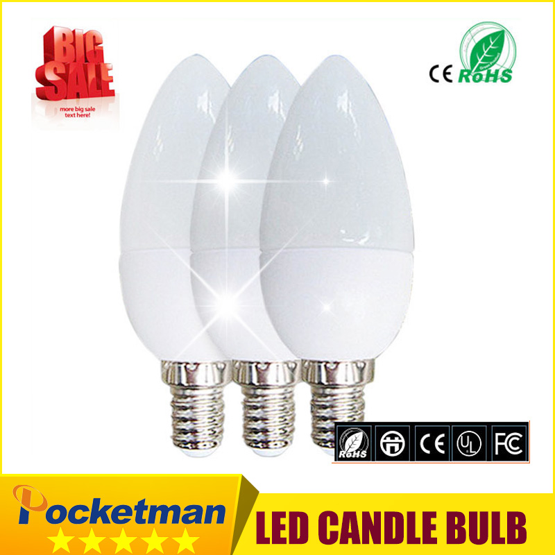 Hot sale 3 Years Warranty 1pcs/lot High Brightness led candle lights 5w e14 AC220V 230V 240V SMD2835 acrylic shell<br><br>Aliexpress