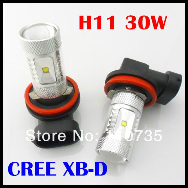 Super brightness H4,H7,H8,H9,H11,9005,9006 LED fog lamp DC 12-24V 30W for auto car light FREE SHIPPING