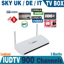 2016 New IUDTV with SKY IT DE UK IPTV box 3 months subscription with leadcool box