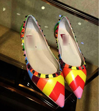 Europe and the big 2015 women s shoes shoes shoes 1 spot pointed rivet