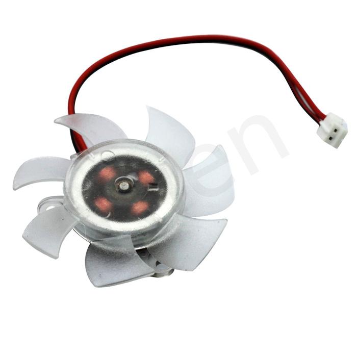 Welcoming 1PC FREE SHIPPING PC VGA Video Graphics Card CPU Heatsink Cooler Cool Fan 50mm 2-pin #FS026(China (Mainland))