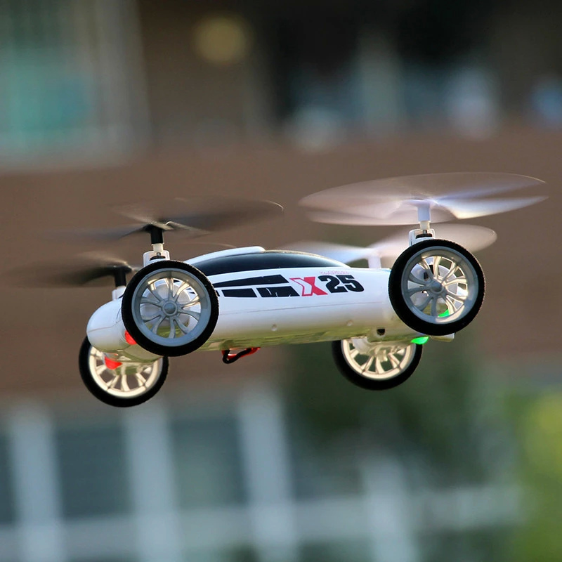 RC Quadcopter Flying Car RTF X25 2.4G 8CH 6-Axis Speed Switch With 3D Flips with no Camera(China (Mainland))