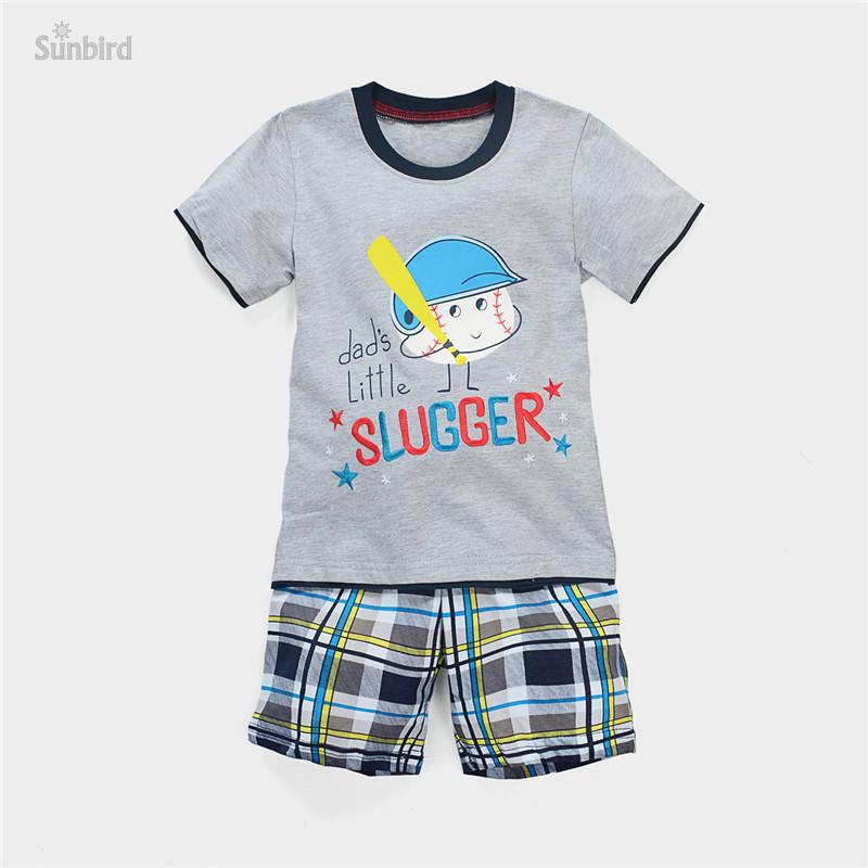 JTS161, baseball, 6sets/lot, summer children boys clothing sets, short sleeve t shirt + shorts for 1-6 year, 100% cotton<br><br>Aliexpress