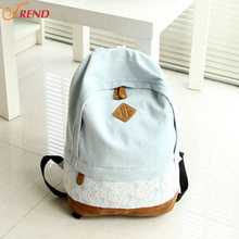 50pcs/lot Wholesale Girls/Womens Vintage Denim Casual Backpack
