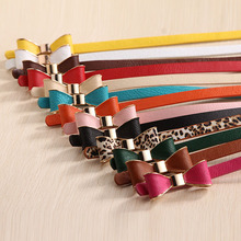2016 Style Summer 13 Color Women Belt Luxury Brand Colorful Belts for Women Bow Leather Belt Female Waist Ceinture Femme(China (Mainland))