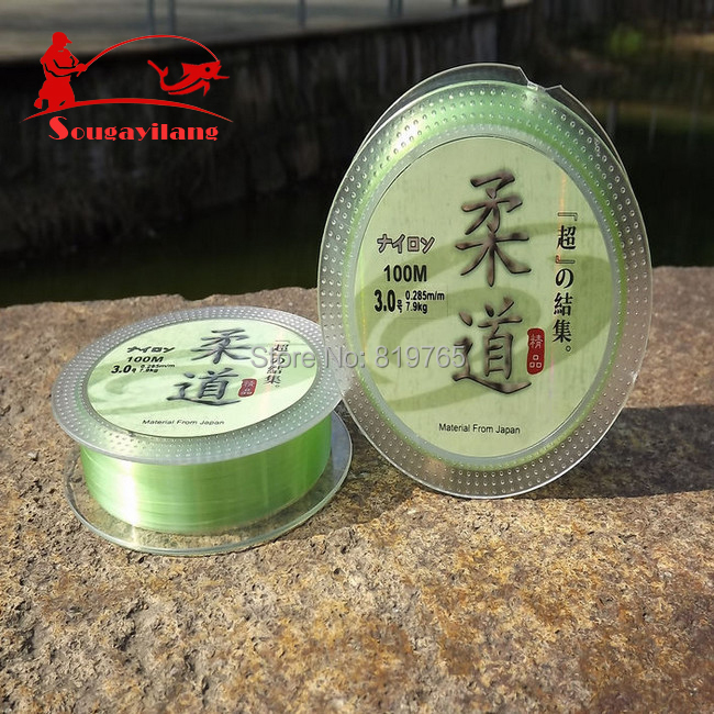 High Quality Fishing Line Nylon Transparent Fluorocarbon 1pcs/lot 100m 0.6#~7# Fishing Line Fishing Tackle For Carp(China (Mainland))