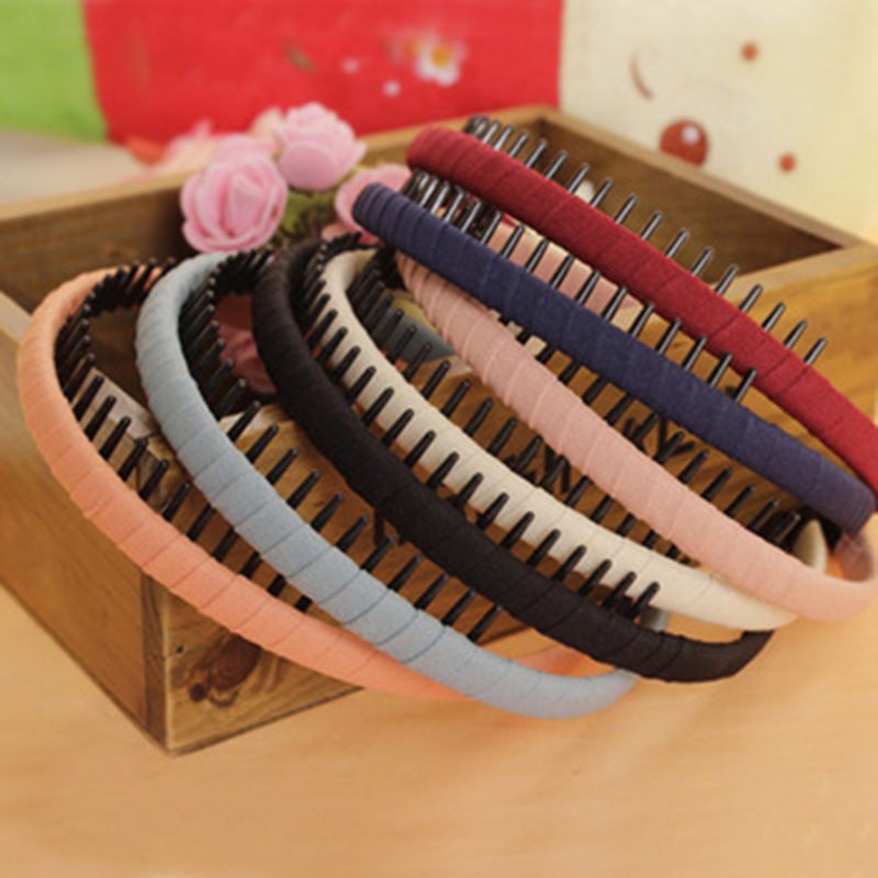 2016 New Fashion Multicolor Headband with Teeth Practical Cloth Hair Band for Women & Girls Hair Accessories Hairband Jewelry(China (Mainland))