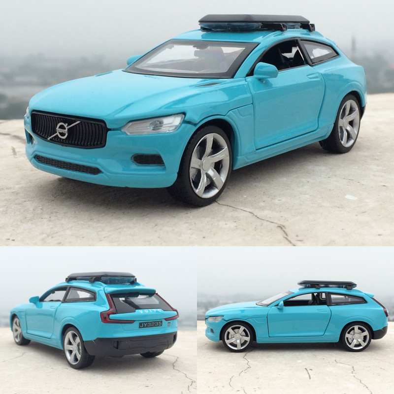 (4pcs/lot) Wholesale Brand New JIAYE 1/32 Scale Sweden VOLVO XC Diecast Metal Pull Back Sound&Light Car Model Toy(China (Mainland))