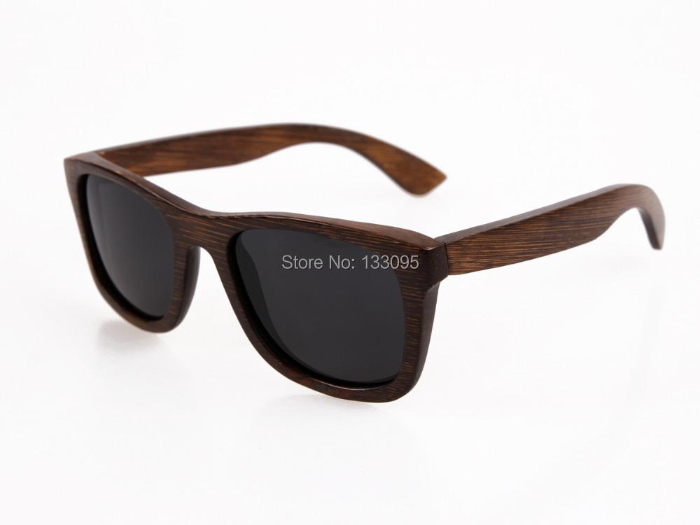 bamboo sunglasses 2015 fashion polarized sunglasses popular new design wooden wayfarer sunglasses for free shipping(China (Mainland))