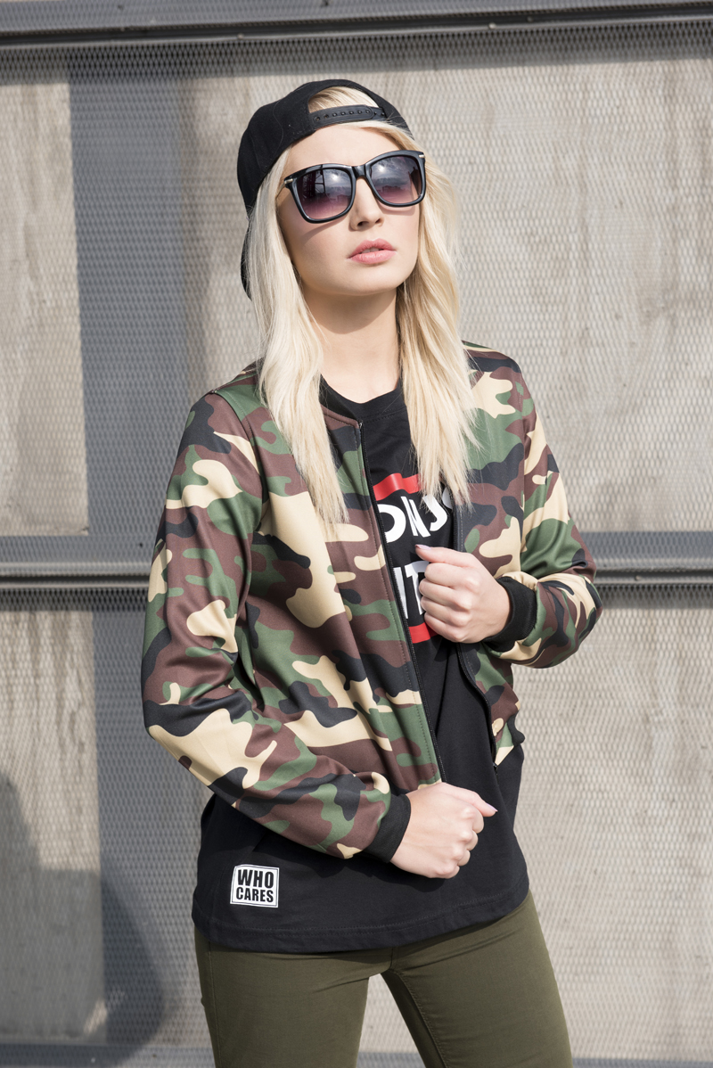 Mix 2016 3D цифровой Полныйprint весна осень камуфляж короткие женщин куртки бомбардировщика тонкий женский пиджаки