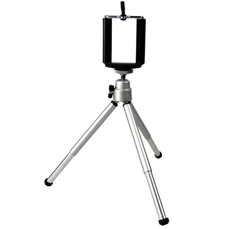 Tripod Mini Smart Phone Camera Stand Clip Bracket Holder Mount Adapter Self-Timer Silver Aluminum PA-0113-SV - Coconut8709 Fashion store