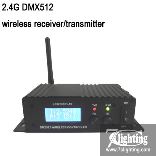 LCD Display Dmx512 Wireless Receiver/Transmitter,2.4G Global Open Wireless DMX512 Controller,Dmx Wireless Lighting Controller(China (Mainland))