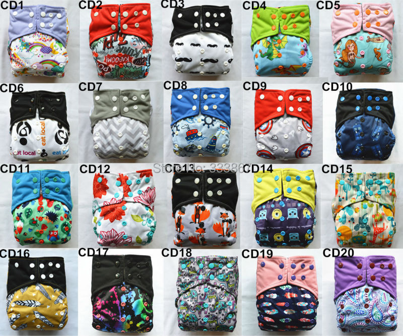5/lot U PICK Charcoal Bamboo Baby Cloth Diapers Nappy Washable Reusable,Double Gusset,Square Tabs,18 Choices,3-15kgs(China (Mainland))