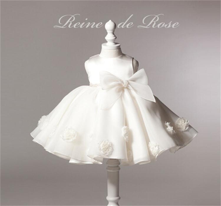 Baby girl dress vintage baby christening dresses rose big bow girl