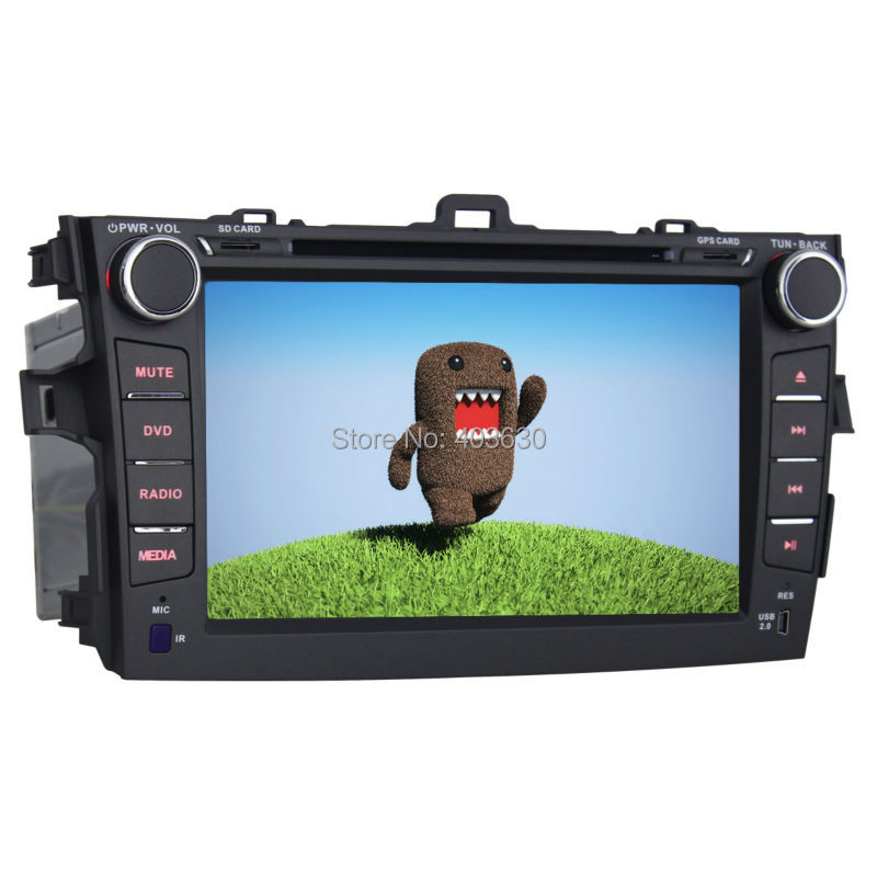 8inch Car DVD Player for 2007-2011 Toyota Corolla 2 DIN Car Cassette Recorder / GPS Navigation Radio / RDS / AUX Function(China (Mainland))