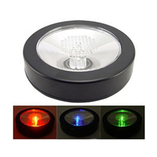 1pc LED Light Bottle Cup Mat Coaster Color Changing Round Pad For Party Bars Wholesale(China (Mainland))