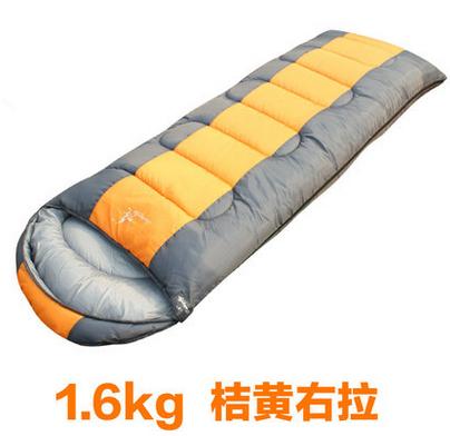 New Outdoor envelope sleeping bag camping 1.3kg/1.6kg/1.8kg thick splicing double sleeping bag winter sleeping bag Free shipping