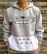 Thicken new fashion men/women cartoon totoro hoodie unisex 3d sweatshirt harajuku animal patchwork 3d pullover hoodies tops(China (Mainland))