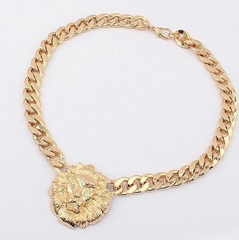 Sunshine jewelry store lion head chunky necklace X329