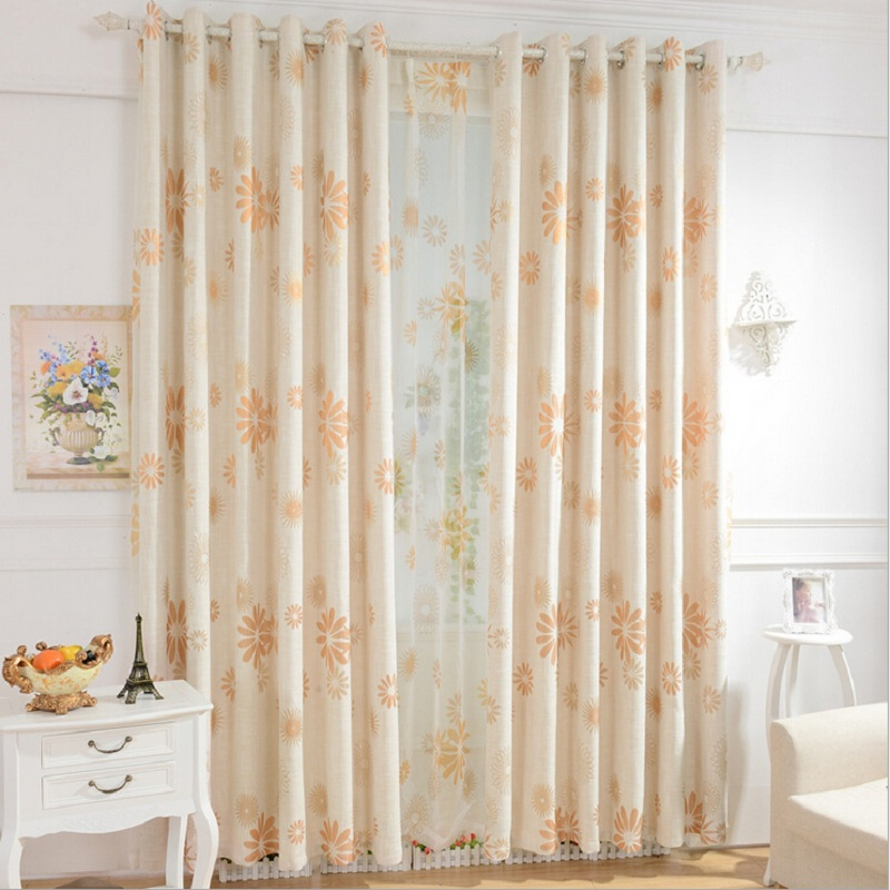 elegant style sheer curtains for living room bedroom window cutains decorative flowers pattern design cartinas voile DS046 #30(China (Mainland))