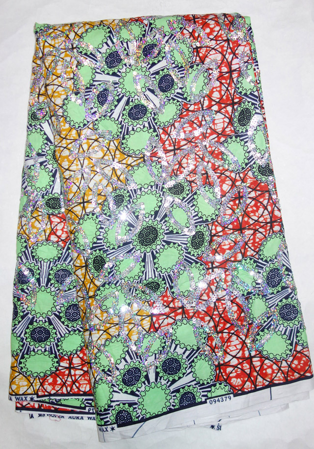 Здесь можно купить  2015 Sequins Super wax hollandais 100%cotton guaranteed dutch wax african super wax hollandais print fabric 6yards/piece&Tn06  Дом и Сад