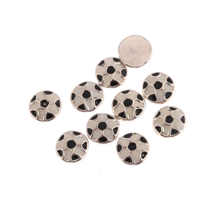 10pcs 8x8mm round soccer ball football float locket charms for glass locket (B1046)(China (Mainland))
