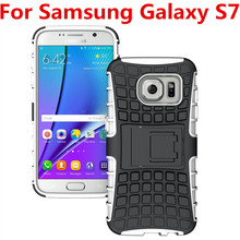 Buy 2in1 Back Cover Case Samsung Galaxy S7 Phone Case Dual Layer Kickstand Heavy Duty Armor Shockproof Hybrid Silicone Case QS for $3.28 in AliExpress store