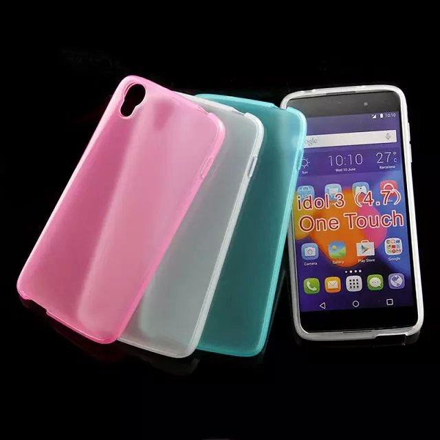"""For Alcatel One Touch Idol 3 4.7"""" Glossy tpu case, High Quality Soft Jelly Candy TPU Gel Case For Alcatel One Touch Idol 3(China (Mainland))"""