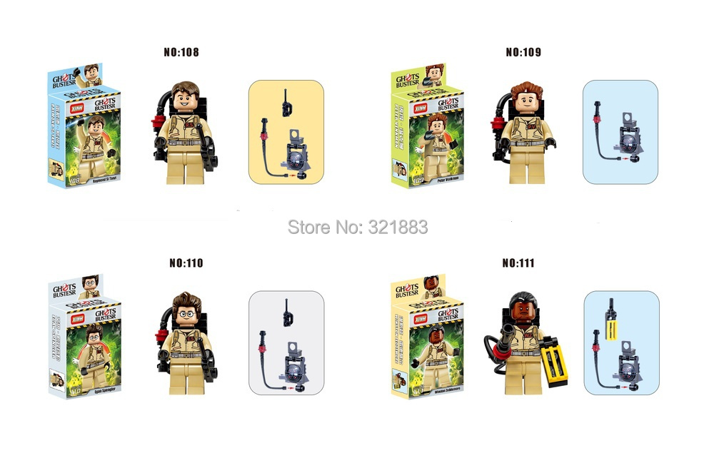 8Baby Toys ghostbuster minifigures DIY building block Bricks figures classic toys Educational child - F & C Store store