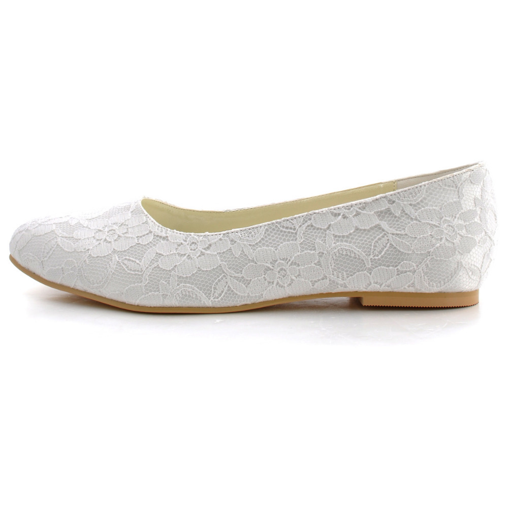 flat lace bridal shoes - photo #32