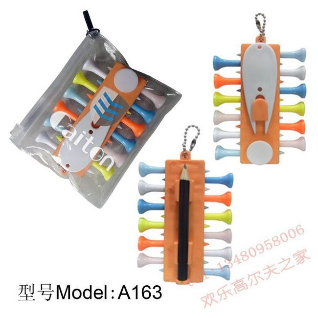 Golf Tee Holder Carrier with 12 Plastic Tees &amp; 3 Ball Markers &amp; 1 Key Chain , Free / Drop Shipping Wholesale<br><br>Aliexpress