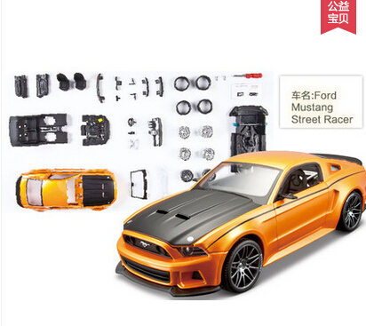 2015 Ford mustang CT/GT/BOSS 302/ RACER assembly line 1:24 Alloy Simulation metal car model 38 parts decoration - Heartfresh DIY Gift Shop store